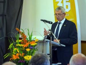 Bei seiner Rede konnte Landrat Johann Kalb seinen Stolz und seine Begeisterung kaum verbergen.