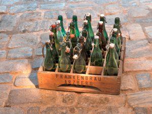 Bügelverschlussflaschen der Frankenbräu in Arzberg.