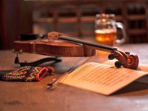 Ein Bier zur klassischen Musik.