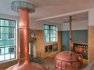 Blick ins Brauhaus der Brauerei Scherdel.
