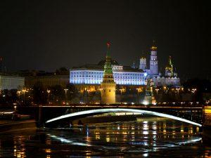Auch ein nächtlicher Rundgang durch die russische Hauptstadt gehörte zum Programm.