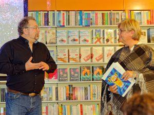 Biersommelier und Buch-Autor Markus Raupach und Schauspielerin Heike Bauer-Banzhaf.