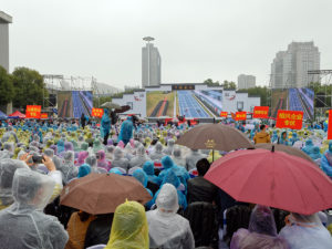 Am Morgen der Eröffnung des Kongresses setzte leider starker Regen ein